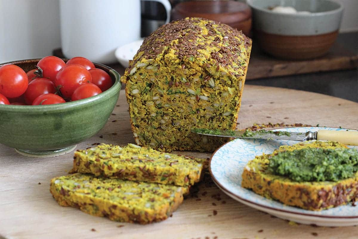 turmeric-goats-curd-onion-seed-loaf